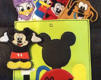 Mr and Mrs Mouse and friends finger puppets Mickey and minnie inspiered clubhouse