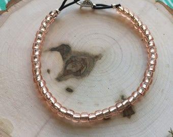 Beaded Light Pink Bracelet