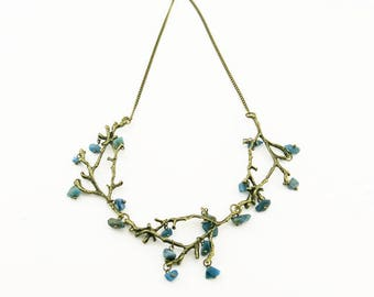 Necklace in bronze with mineral beads COFA12001 (01)