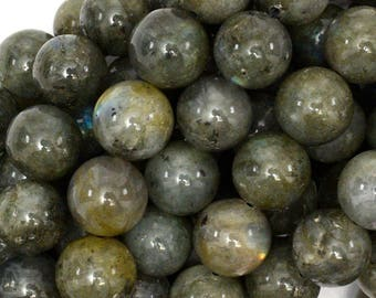 "12mm grey labradorite round beads 15.5"" strand S1 39008"
