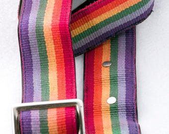 """Shabby Chic Rainbow Camera Strap, 48"""" Long, 2"""" Wide, for Canon, Nikon, Pentax, Sony, and Others"""