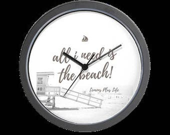 "Wall Clock ""All I Need Is The Beach"""
