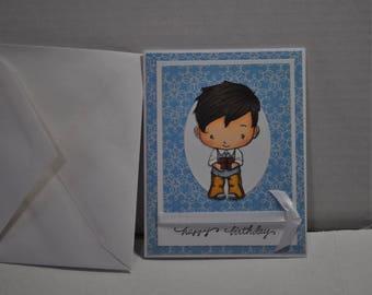 Happy Birthday Boy Handmade Card