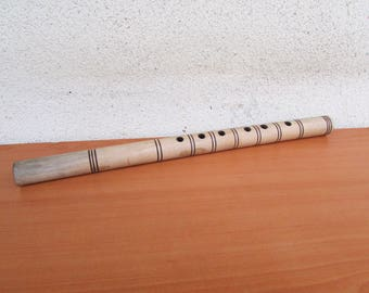 Vintage wooden whistle /  Wooden flute /   Musical instrument /   Vintage whistle  /  Old whistle /  Vintage wooden whistle /   Folk flute