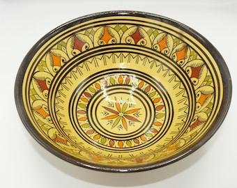 Moroccan Oriental ceramic dish bowl Fruit salad Cereal Ø 30 cm model Amila