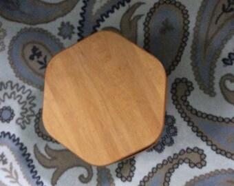 Longaberger 6 sided basket with wood lid