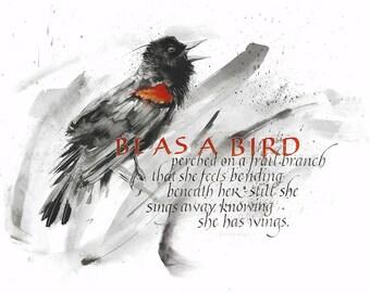 Fine art print: Be As A Bird