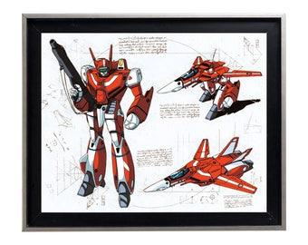Codex Robotech vf-1 Miria Miriya Milia Sterling print art matte poster anime 80's