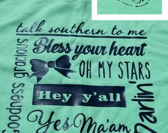 Simply Southern, Shirt, Southern Girl, Talk southern to me, southern girl shirts, southern girls, simply southern, Short Sleeve