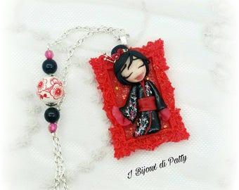 Collana con cammeo Geisha