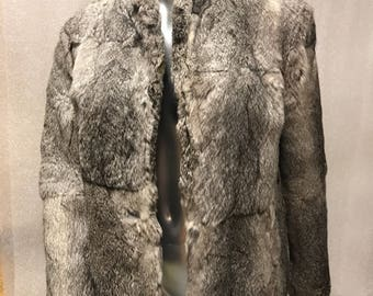 Rabbit fur coat woman size medium.