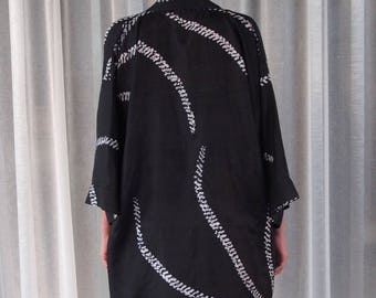 Black Luxurious Silk Robe