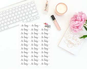 To Buy | Script Font Stickers