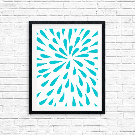 Printable Art, Blue Drops, Pattern, Modern Art, Minimalist Art, Art Printable, Home Decor, Digital Download Print