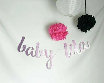 Baby custom banner, It's a girl,  custom banner, Baby girl banner, Party decor, Party banner, Baby shower decorations, Welcome baby