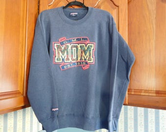 Vintage GMI University MOM Sweatshirt Kettering University Size Large Navy Blue by JanSport