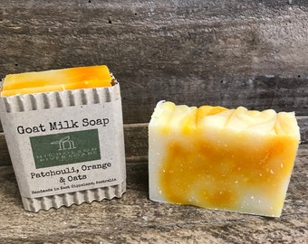 Goat Milk Soap - Patchouli, Orange & Oats