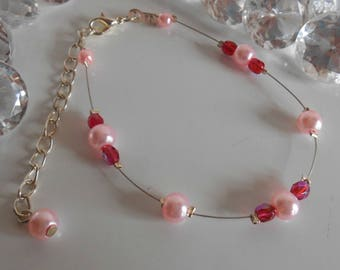 Wedding bracelet romantic pink trend
