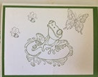 Color Me Frog Greeting Card