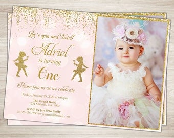 St Birthday Invitation Girls Birthday Party Invitations - First birthday invitations girl online