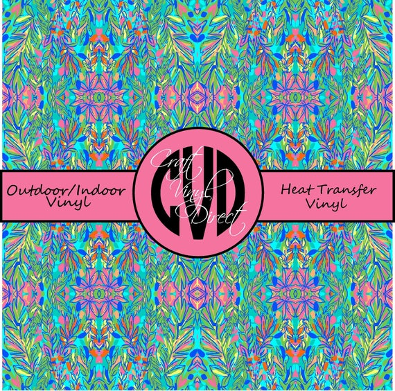 Beautiful Patterned Vinyl // Patterned / Printed Vinyl // Outdoor and Heat Transfer Vinyl // Pattern 136