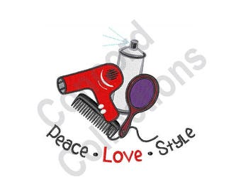 Peace Love Style - Machine Embroidery Design