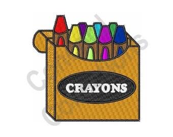 Crayon Box - Machine Embroidery Design