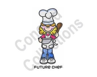 Chef - Machine Embroidery Design, Girl, Cook, Bake, Future Chef