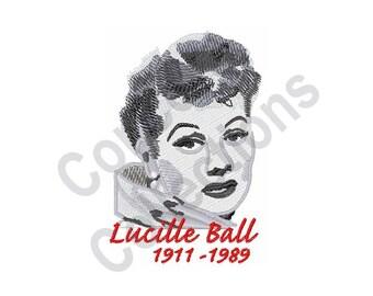 Lucille Ball - Machine Embroidery Design