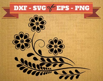 Flower SVG Files, vine vector files for cricut, herb cutting files, clipart flowers, DXF files plants, blossom silhouette, svg plant