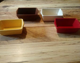 Ceramic mini colorful loaf pans