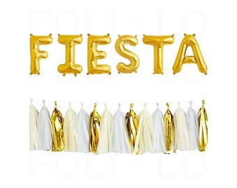 """FIESTA Letter Balloons 