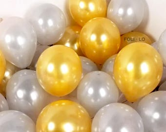 New Years Balloon Set | Gold and Silver Balloons | New Years Balloons | Happy New Years Balloons | Gold and Silver Decoration | Set of 6