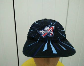 Rare Vintage LOS ANGELES ANGELS Big Logo Embroidered Cap Hat Free size fit all