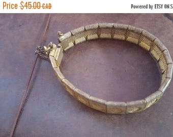 ON SALE Vintage Brass Bracelet