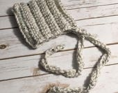 Baby bonnet, handmade crochet bonnet, You Choose Size, baby, gender neutral, made to order, baby boy, baby girl, chunky yarn, photo prop