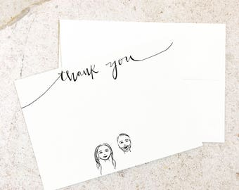 Thank You Notes Set of 10-Custom Available