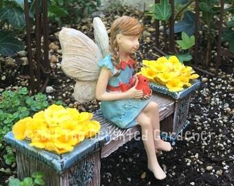 Fairy Robin - miniature enchanted fairy garden