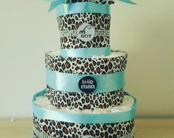 """great for boy """"leopard"""" layer cake"""