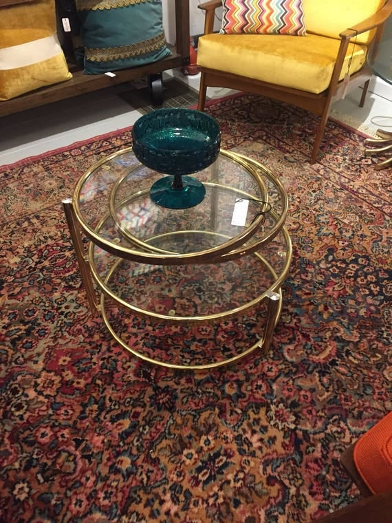 Mid-Century Hollywood Regency 3 tier coffee table