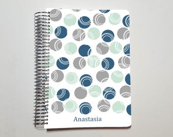 "Coil Bound Notebook, Bullet Journal, Personal Notebook, Dot Grid, Graph, or Lined Journal ~ A5 / 5.5"" x 8.5"" / Half Letter (10)"