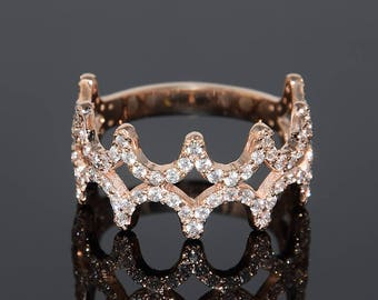 unique wedding band wide diamond wedding band rose gold diamond band filigree wedding