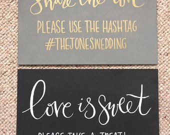 Hand Painted A4 wooden sign | Create your own text | Black or White