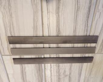 "USA steel lot of 3- 1/8""x1""x12"" 15N20 high carbon steel flat bar knife billet"