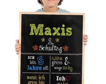 1.SCHULTAG Panel posters, training, personalized DIN A3