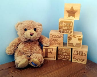 Wooden personalised blocks