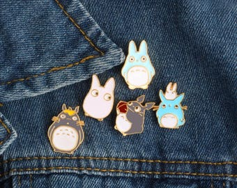 1 Enamel Pin,Totoro Pin,Totoro Brooch,Enamel Pins,Cartoon Enamel Pins,Hard Enamel Pins,Totoro,Brooches,Pins,Enamel Pin Set Lot #1/6