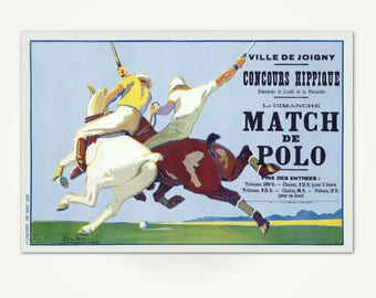 Match de Polo Poster Print - 1920's French Polo Advertising Poster Art