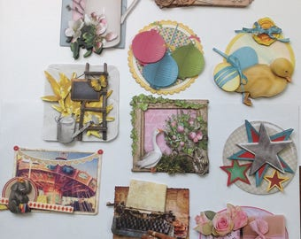 Set of 10 images mounted 3D for your achievements of cards, scrapbooking