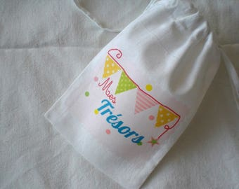 "Small fabric bag ""Treasures"""